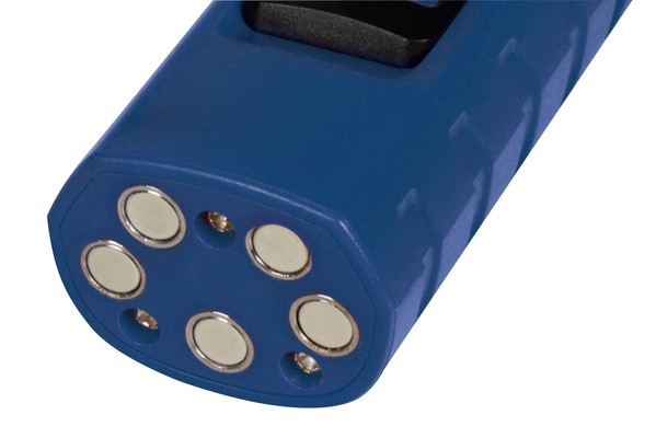 Wiederaufladbare LED Arbeitslampe mit Taschenlampe 12/24/230V