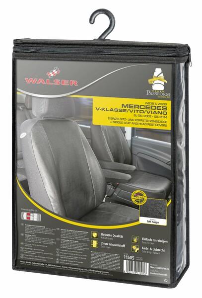 Sitzbezüge für Mercedes-Benz Vito W638 + W639 2 Einzelsitze für Armlehne innen ab Baujahr 06/2003 - 05/2014