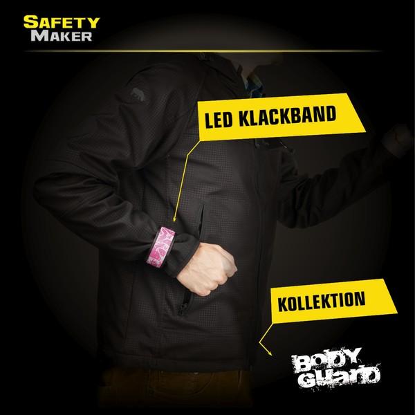 LED Klackband pink