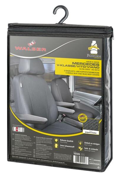 Sitzbezüge für Mercedes-Benz Vito W639 2 Einzelsitze für Armlehne innen und aussen ab Baujahr 06/2003 - 05/2014
