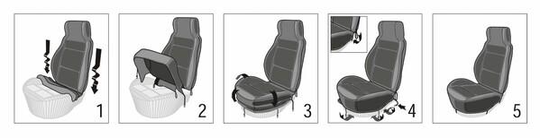 Autositzbezug Zoya aus Lammfell beige mit ZIPP IT System für Highback Sitz