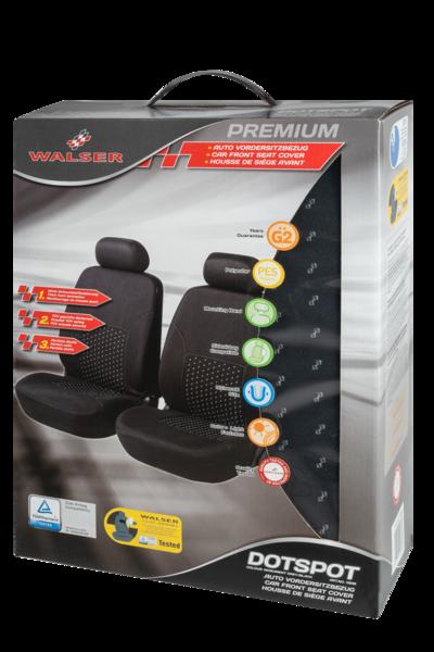 Autositzbezug DotSpot grau schwarz Premium für Vordersitze