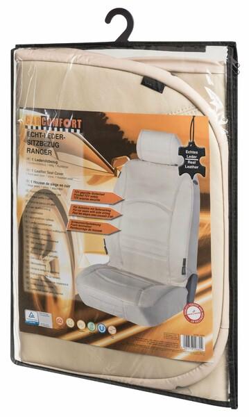Autositzbezug Ranger aus echtem Leder beige
