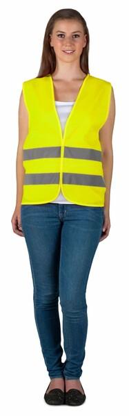 Sicherheitsweste Größe L für Erwachsene Gelb EN 20471/2