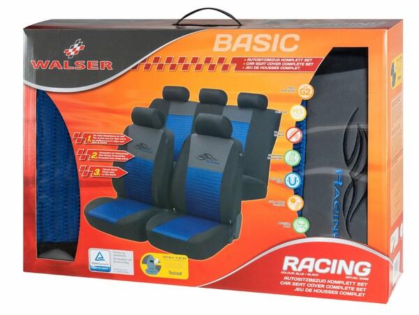 Autositzbezug Racing blau