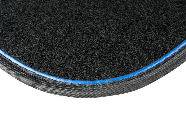 Autoteppich The Line schwarz / blau