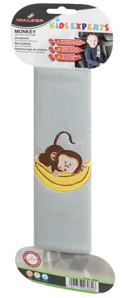 Monkey Gurtpolster Gurtschoner grau ab 5 Jahre