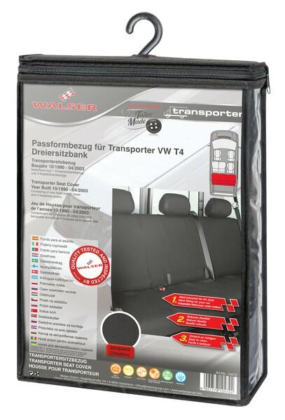 Sitzbezüge für VW T4 3er Bank hinten aus Polyester für Baujahr 10/1998 - 03/2003