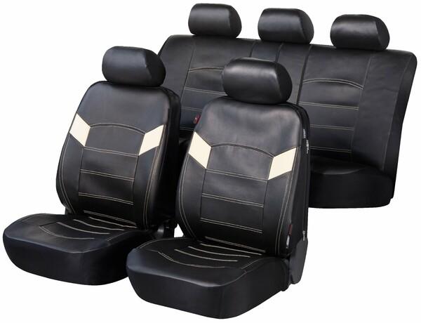 ZIPP IT Deluxe Essex Auto Sitzbezüge aus Kunstleder mit Reissverschluss System