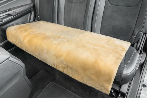 Lammfell Rückbank-Auflage Cacey beige 120x60 cm