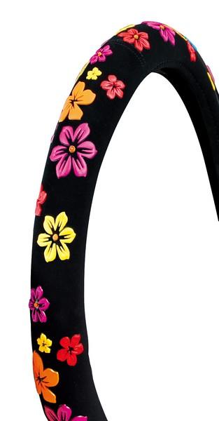 Lenkradbezug mit Blüten Gr. S 35-37 cm