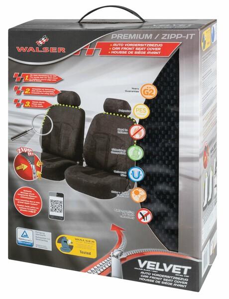 ZIPP IT Premium Velvet Auto Sitzbezüge für Vordersitze mit Reissverschluss System