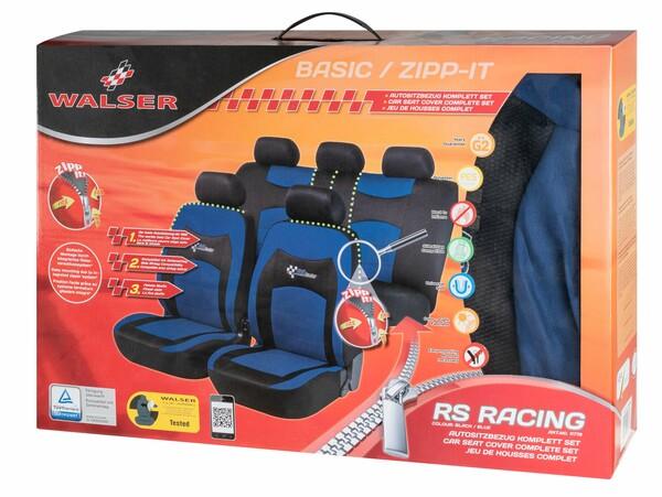 ZIPP-IT Basic RS Racing blau Auto Sitzbezüge mit Reissverschluss System