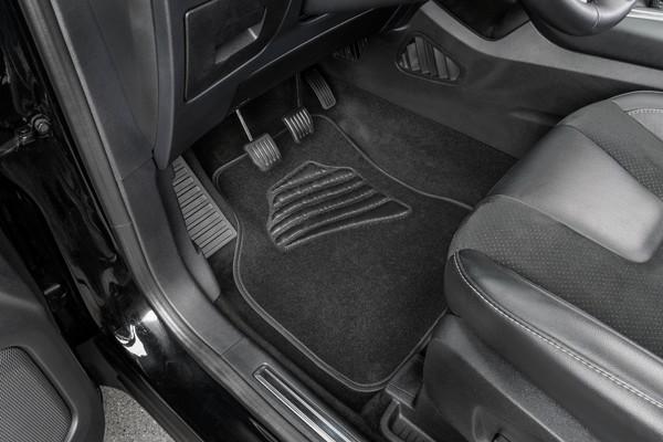 Autoteppich Matrix schwarz