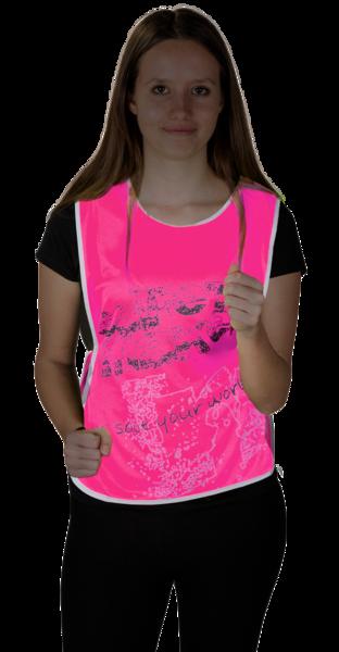 Reflektierende Freizeitweste S-M pink