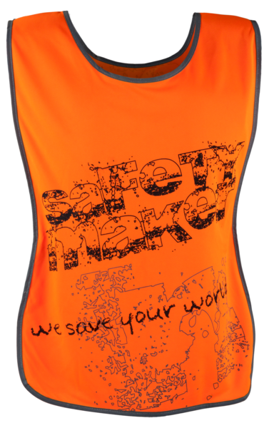 Reflektierende Freizeitweste S-M orange